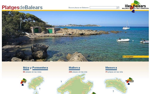 Las playas de las Baleares reunidas en un portal web
