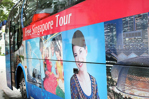 Tours gratis para los turistas en trnsito del aeropuerto de Singapur