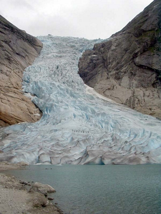 El glaciar  de Jostedalsbreen