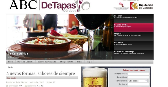 La gastronoma de Crdoba se plasma en una web