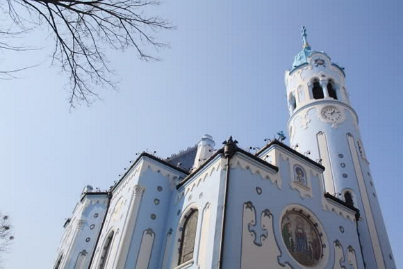 La iglesia azul de Bratislava