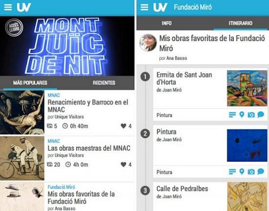 Unique Visitors, app móvil para visitantes a museos